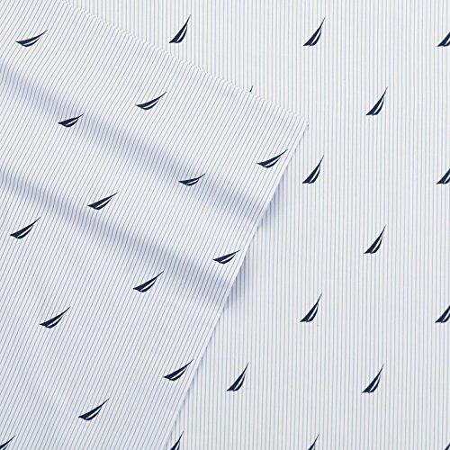 Price comparison product image Nautica Boat Stripe Sheet Set, Queen, Blue