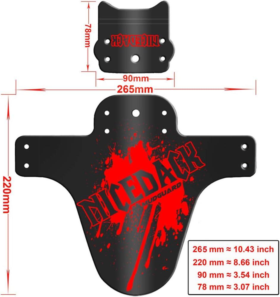 Rouge-Red, 2 PCS 1 Pi/èce de Montagne Garde-Boue VTT Garde-Boue Avant et Arri/ère pour V/élo BMX 2 NICEDACK V/élo Fender
