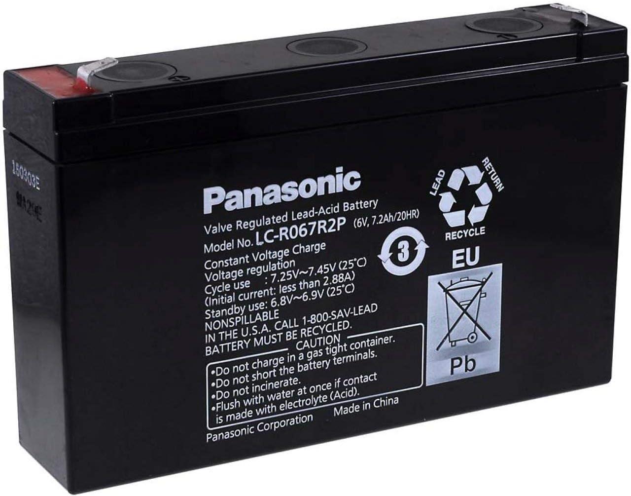 Panasonic Bleiakku Lc R067r2p 6v Lead Acid Elektronik