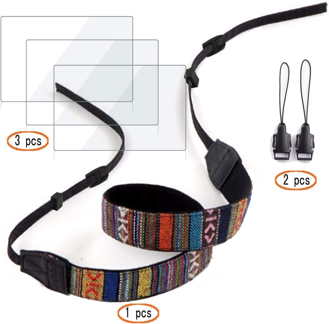 1 Pack + Shoulder Strap Screen Protector for Nikon D3500 D3400 D3300 D3200 D3100,Hard Tempered Glass 3 Pack 2 Pack +Adapter