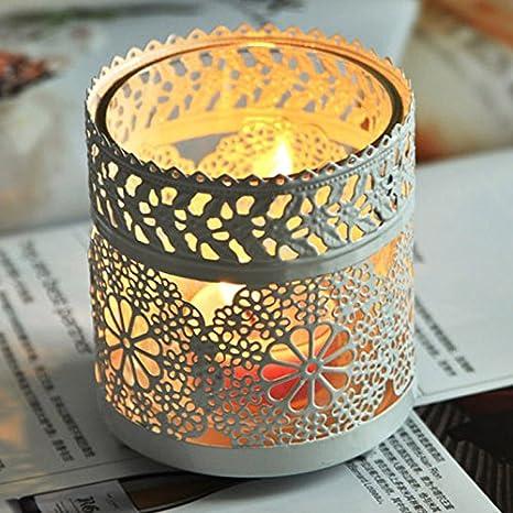 3PCS / LOT metal jaula de pájaro de la boda Linterna de la vela ...