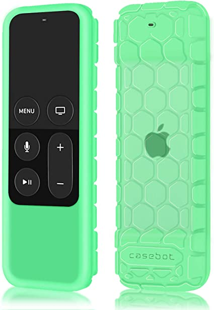 Fintie Protective Case for Apple TV 4K 5th Honey Comb Series 4th Gen Remote Shock Proof Silicone Cover for Apple TV Siri Remote Controller Lightweight CaseBot Anti Slip Blue
