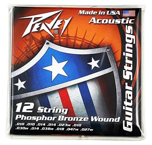 Peavey Phosphor Bronze-Balanced Acoustic Guitar Strings 12-String by Peavey