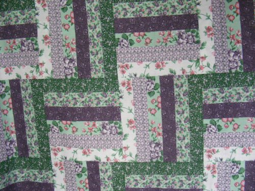 "Cheater Quilt Top Material,90"" X 108"",""Fence Rail Lavender"""