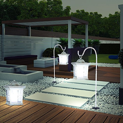 2 x lampe solaire lampadaire luminaire sur pied pique borne ...