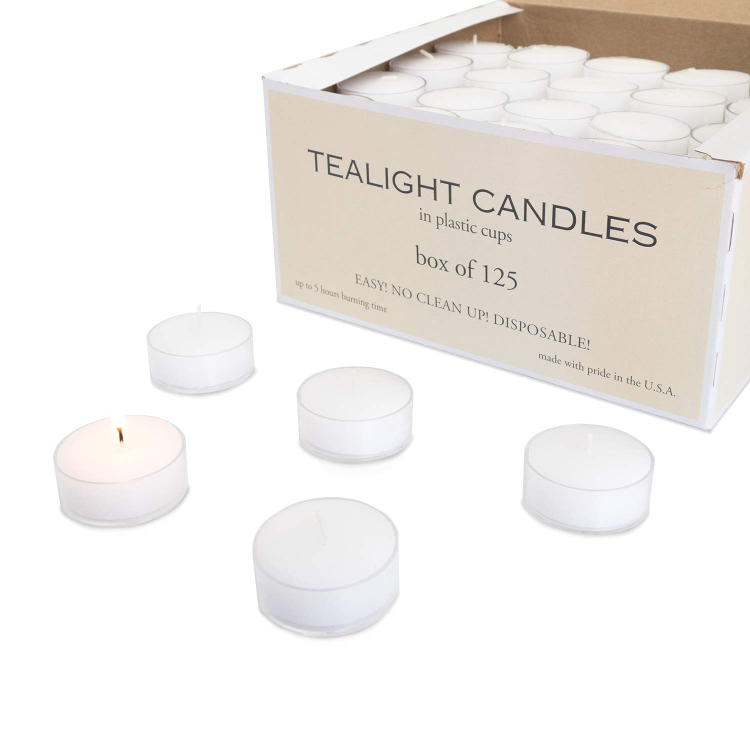 Royal Imports Clear Acrylic Tea-light Candles Wedding, Holiday & Home Decoration, 7 Hours Extended Burn Time (Set of 30) TEACAN_030