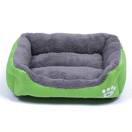 LVAB Cojín de Cama Blando Lavable de Lujo con Forro Polar para Perros (Color :