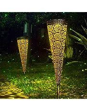 Zonne lichten buiten,Waterdichte beveiliging metalen lichten schemeren naar dageraad Auto aan/uit voor tuin grasland Patio Deck Yard oprit omgevingslicht landschap decoratie verlichting