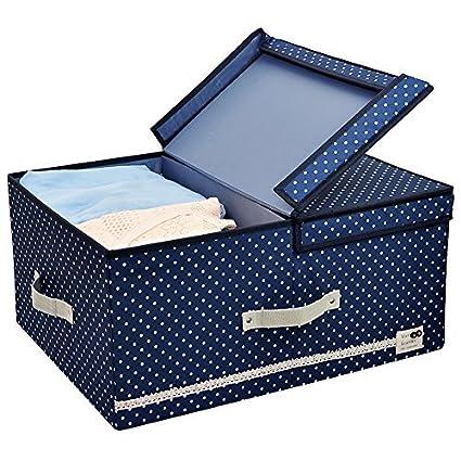 Tamaño Jumbo, diseño plegable, Tela gruesa de poliéster, recipientes de almacenamiento, ropa