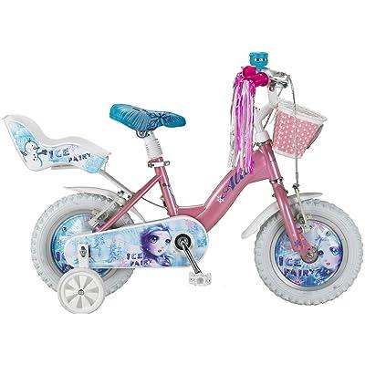 Vélo Enfant Fille Altec Ice Fairy 12 Pouces Frein Avant et Frein à Rétropédalage Panier et Porte de Poupées Rose 85% Assemblé