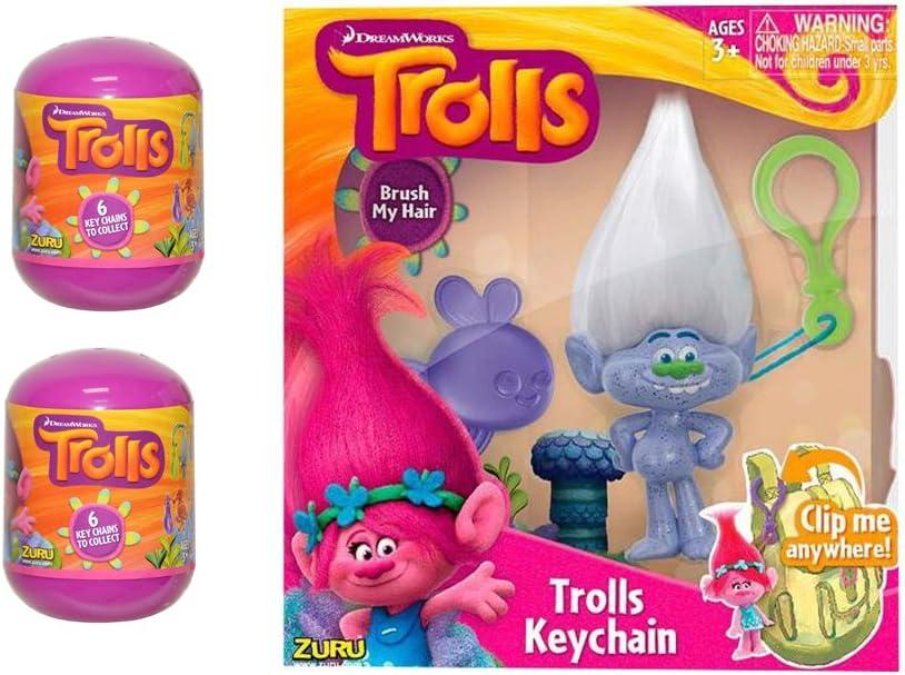 Trolls Mystery Key-chain Capsule Bundle of 3!