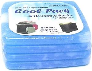 Ezprogear Slim Cooler Packs Reusable Ice Pack for Lunch Bag (Slim)