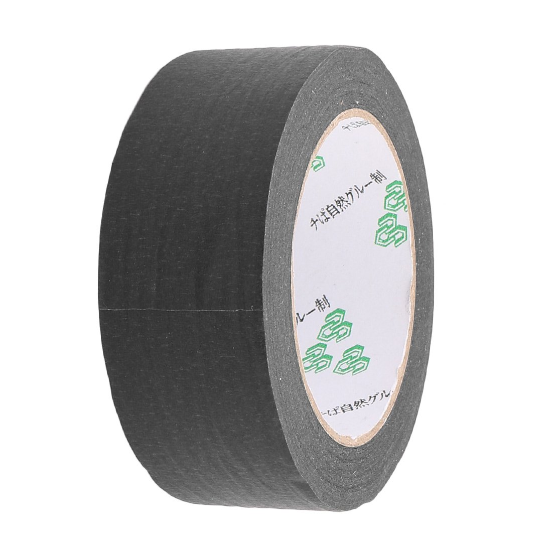 uxcell Crepe Paper Black Easy Release Painters Masking Tape 55 yds Length x 2'' Width