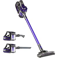 Devanti 150W Cordless Stick Vacuum Cleaner Handheld Bagless Vac 2-Speed Recharge Purple & Grey