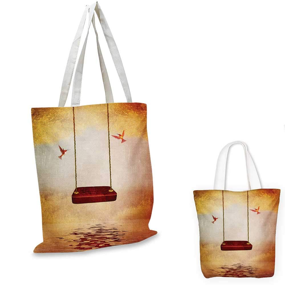 12x15-10 Hummingbirds canvas messenger bag Tropical Flowers and Leaves Natural Foliage Vibrant Color Exotic Rainforest canvas beach bag Multicolor