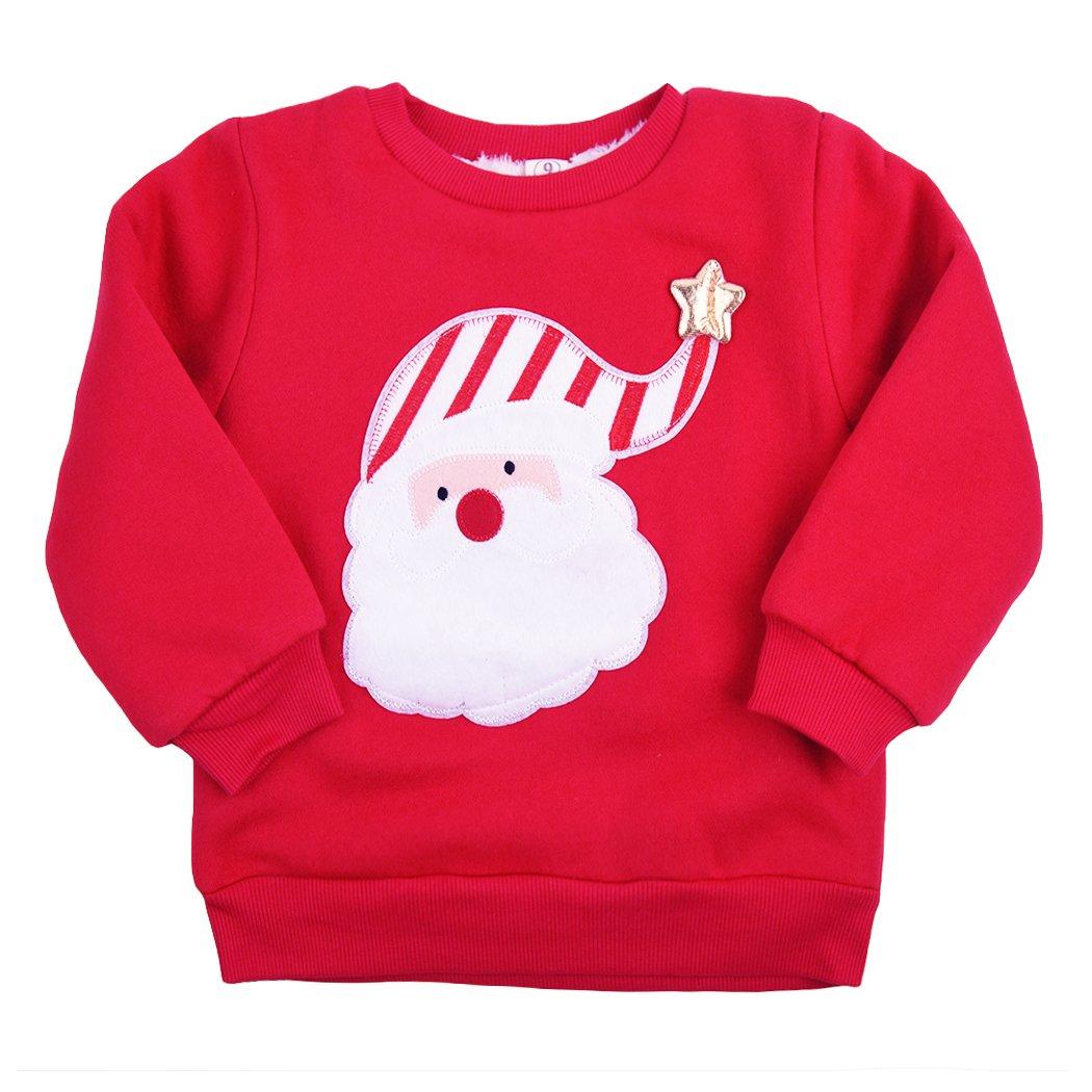 Little Hand Baby Boys Girls Ugly Christmas Sweater Jumper Kids Santa
