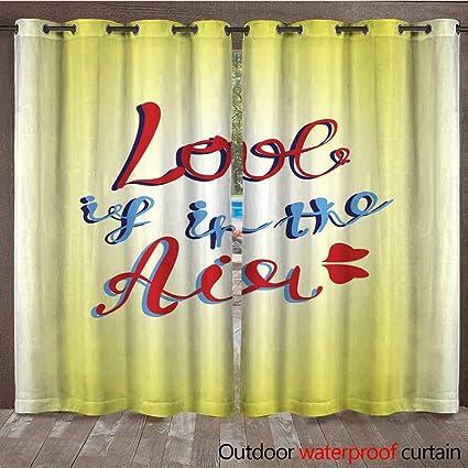 Amazon Com Renteriadecor 0utdoor Curtains For Patio Waterproof