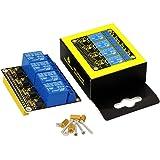 Keyestudio 5V DCAC 4-Channel Relay Shield Module Expansion Board for Raspberry Pi 4/A+/B+/Pi 2 Model B/Pi 3 Model B