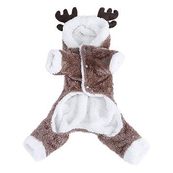 Fdit Pet Traje Piel Elk Pet Navidad Cosplay para Fiestas para ...
