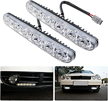 Ralbay 2 x 30 LED Car Daytime Running Light DRL Daylight Lamp with Turn Lights Auto Parking Driving Lamp
