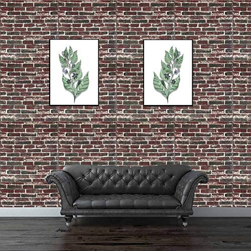 1Panel 3D Foam Stone Brick Self-adhesive Wall Sticker Background Decal 60*30cm G