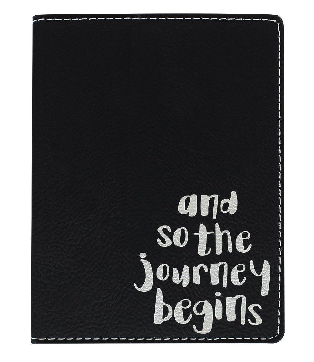 Cute Passport Holder the Journey Begins Laser Engraved Leather Passport Holder A-P-L-LPH-0006-01