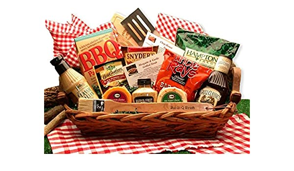 Amazon.com : Barbecue Grilling Gift the Master of The Grill BBQ Gift Basket : Grocery & Gourmet Food