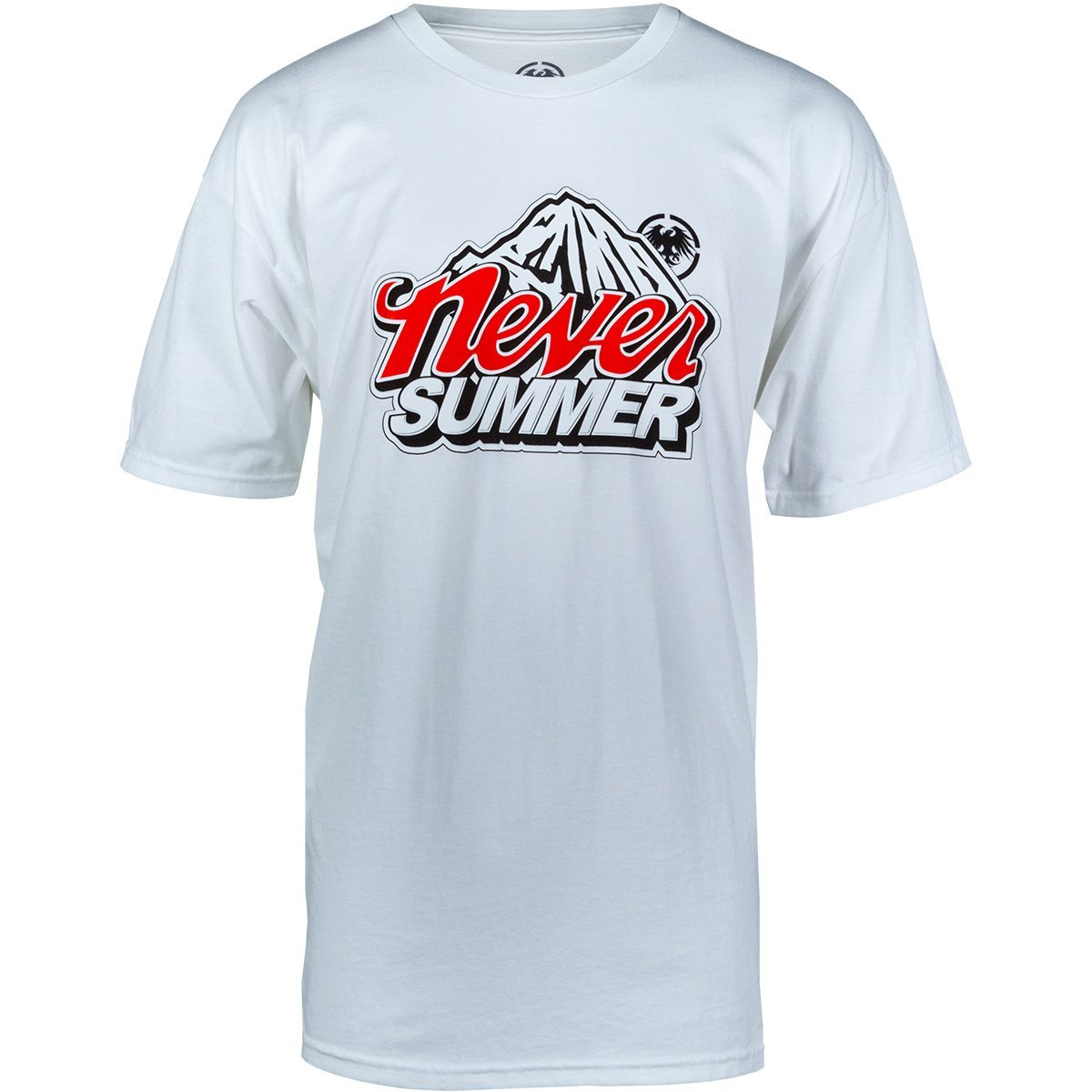 Never Summer Cold Mountain Short Sleeve T-Shirt (X-Large, White)