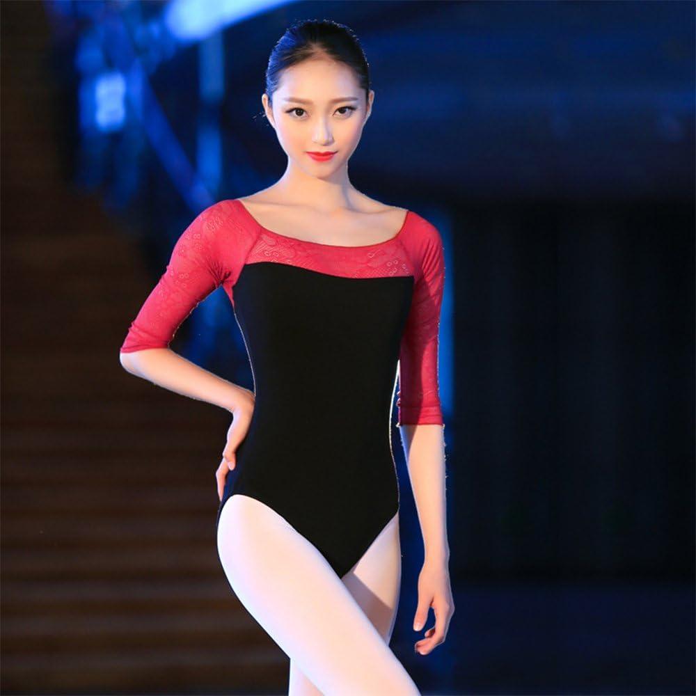 KINDOYO Women Stretchy Gymnastics Leotard Ballet Dancer Leotard Dance Wear