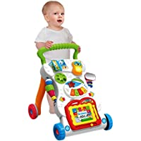 Baby Grow Baby Walker Multinational Toddler Trolley Sit-to-Stand ABS Musical Walker