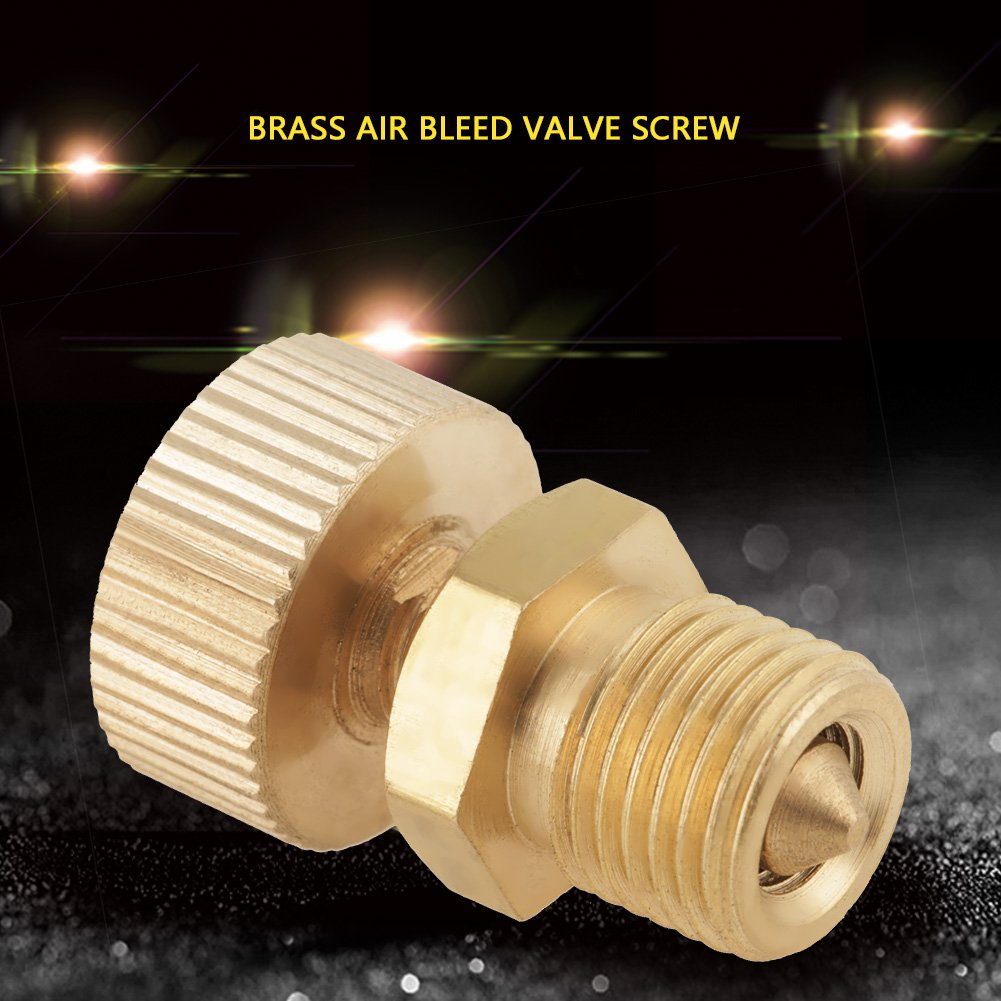 Air Bleed Valve 1pcs Brass Air Bleed Valve Screw for High Pressure Electric Pump Accessories