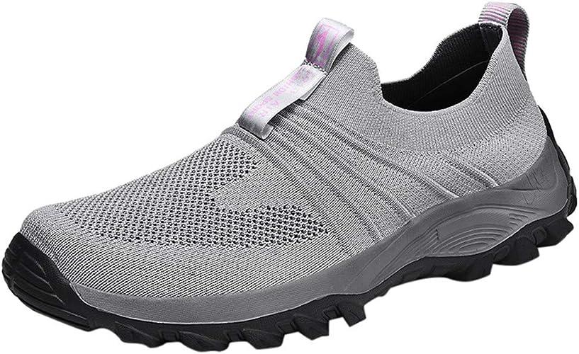 Hombre Zapatillas Deporte Realde Fashion Casual Mesh Walking Shoes Breathable Work Slip-on Sneakers Sport Shoes Comfortable Walking Shoes Cordones Zapatillas de Correr Zapatos Running Sneakers: Amazon.es: Zapatos y complementos