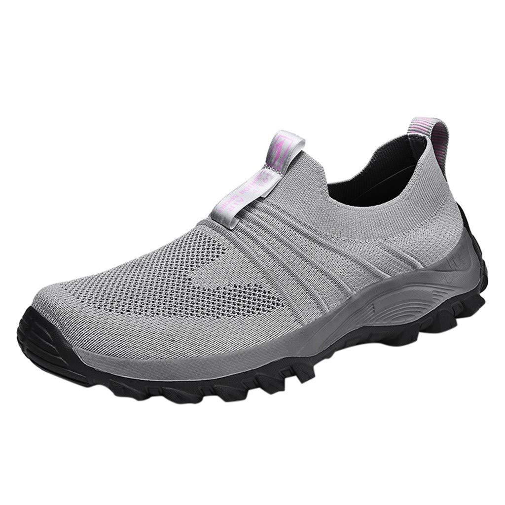 New in Haalife◕‿Men Slip On Walking Sneakers Ultra Lightweight Casual Mesh Running Walking Gym Shoes