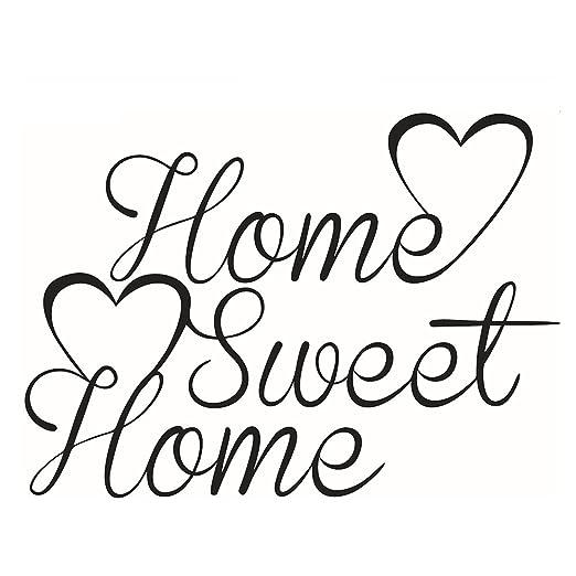 Kentop Pegatina De Pared De Frases De Home Sweet Home Para