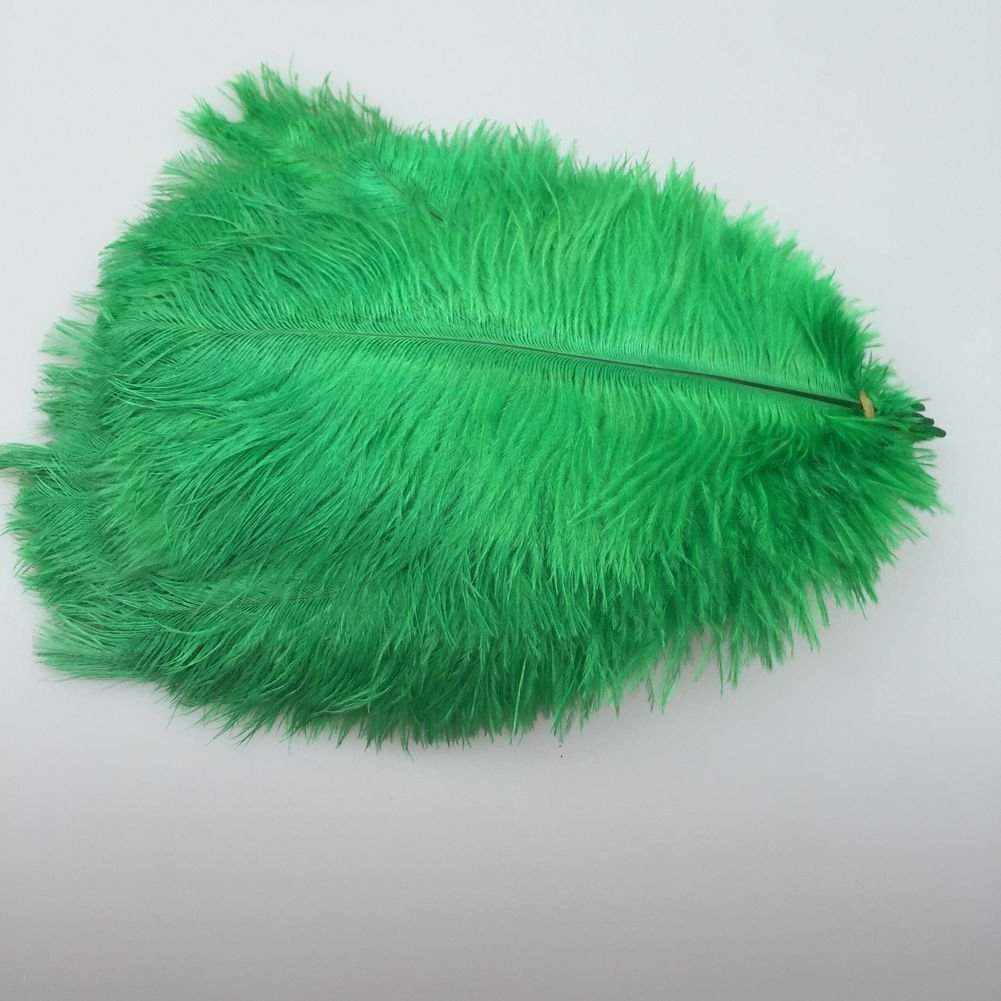 MELADY Pack of 1000pcs Natural Ostrich Feathers Centerpieces 6-8inch(15-20cm) for Home Wedding Party Decoration (Dark-green)