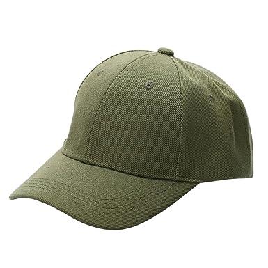 Gemini mall® Men Women Plain Baseball Cap Hat Snapback Hats (Army Green) 58a503403b8