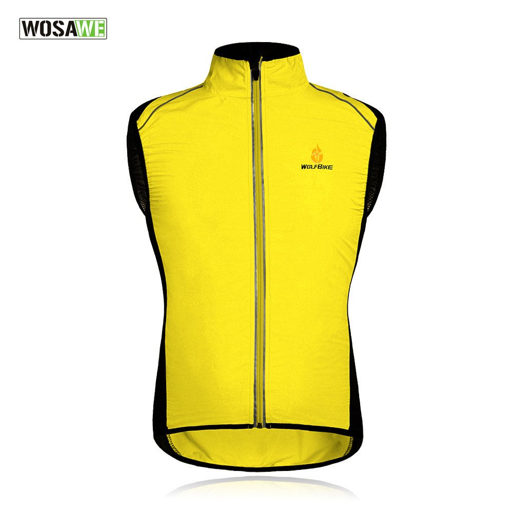 WOLFBIKEサイクリングジャケットジャージーベスト風コートウィンドブレーカージャケットアウトドアスポーツウェア   B01J48421G