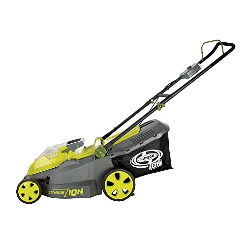Sun Joe iON16LM 40 V 16-Inch Cordless Lawn Mower with Brushless Motor Renewed