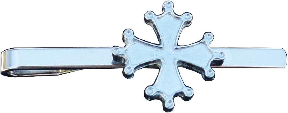 Pinza de corbata Cruz de Occitania – hecho a mano en Estaño ...