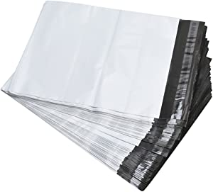 SJPACK Poly Mailers 10x13-inch 100 Bags 2.5 Mil Poly Mailers Envelopes Bags with Self-Sealing Strip White Poly Bags