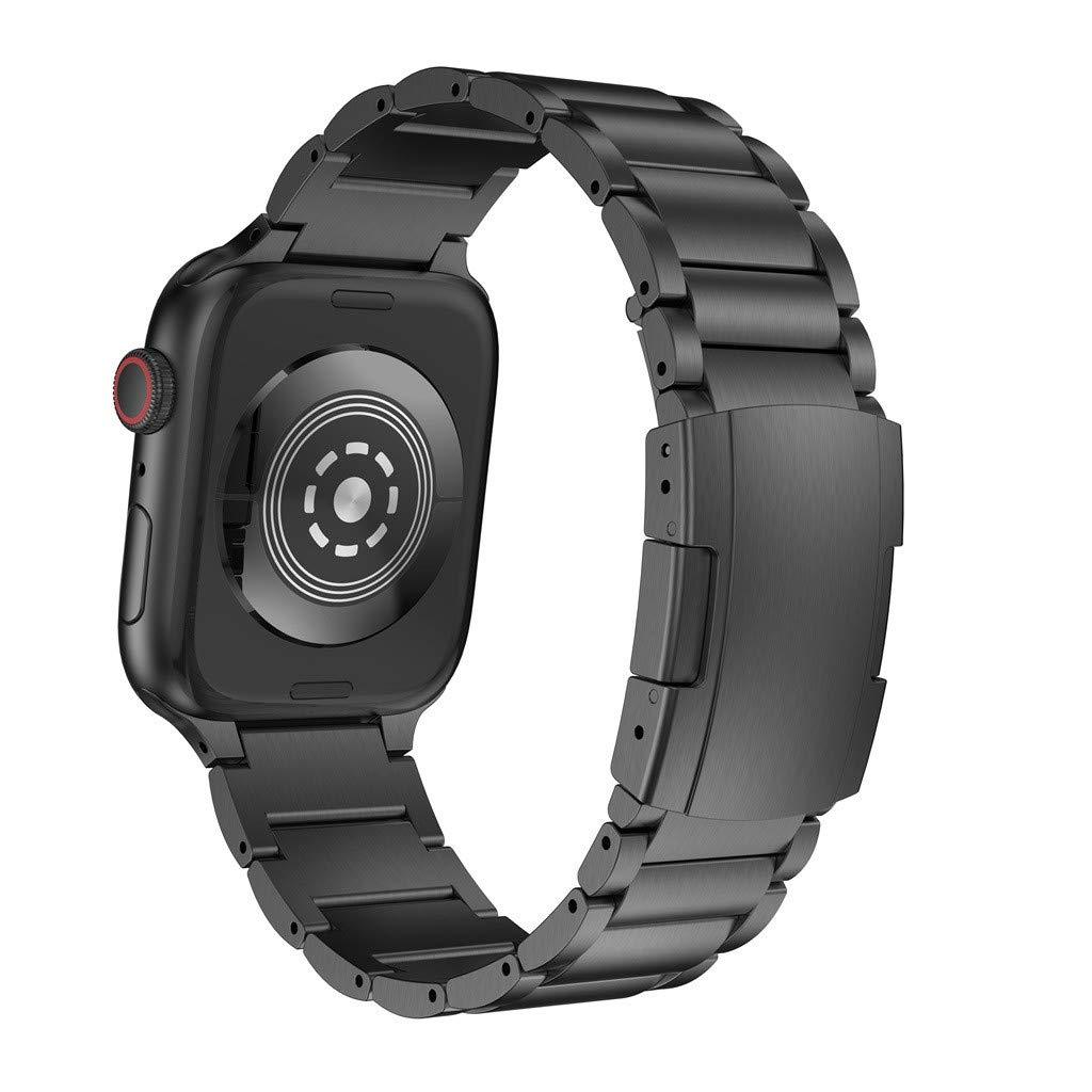 Amazon.com : XBKPLO Compatible for Apple Watch Series 4 Band 38mm 40mm Titanium Alloy Replacement Watch Strap Button Series 3/2/1 Cuff Bracelet : Pet ...