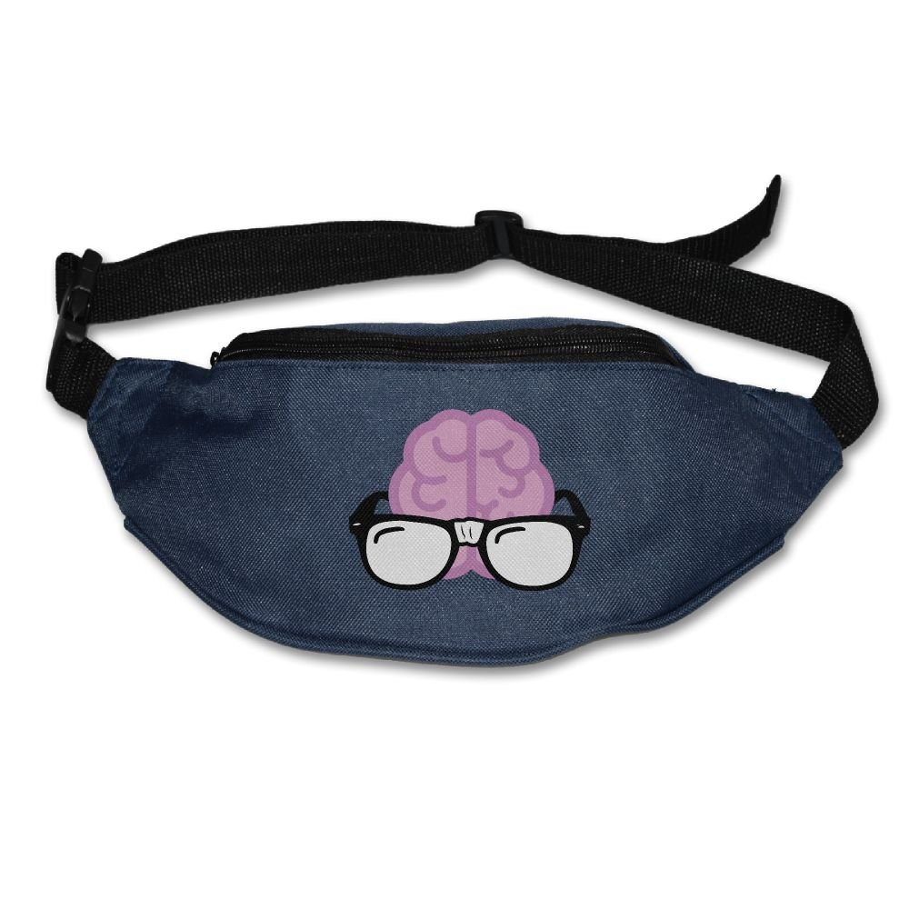 Gkf Waist Fanny Pack Brain With Glasses Running Sport Bag For Outdoors Workout Cycling