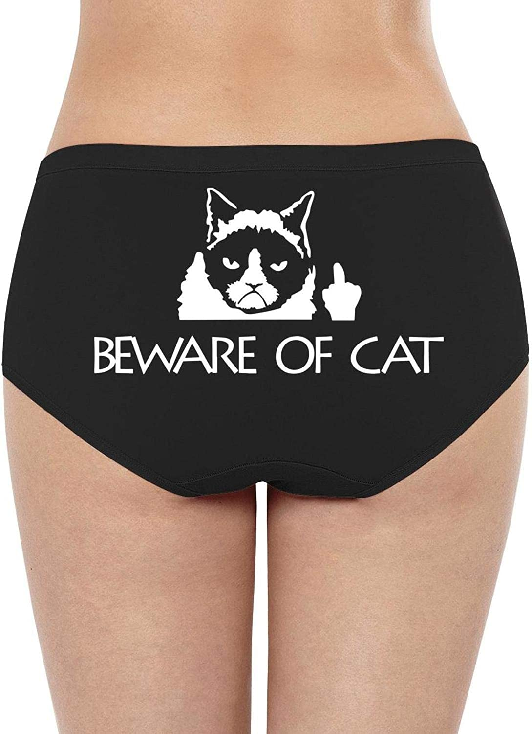 Panties Hipsters for Adult Ultra-Soft Soft Cotton Vintage String Panties yin yang Sign Cats Logo
