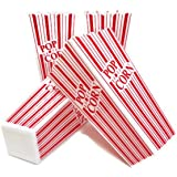Popcorn Containers, Plastic Red & White Classic Movie Popcorn Containers, by Playscene (4, Red & White)