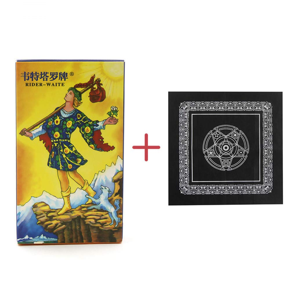 JSGJZY Game Classic Collocation One Piece Tarot Cards+one Cloth, The English Bright Color is Special Tarot Card