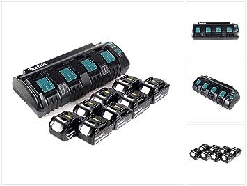 Makita Super Power Source Kit DC18SF - Cargador múltiple con 8 ...