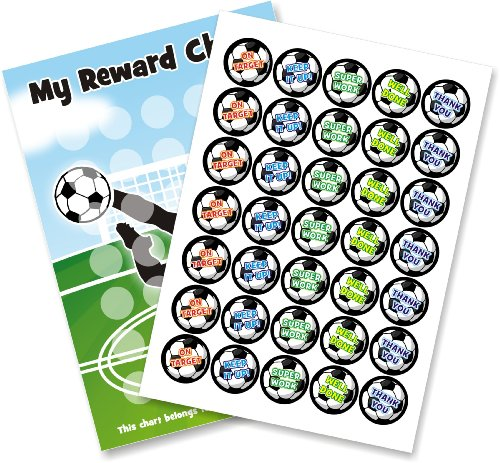 A3 Soccer Collection Reward Chart & Stickers Teacher Parents - Chart Sports Incentive