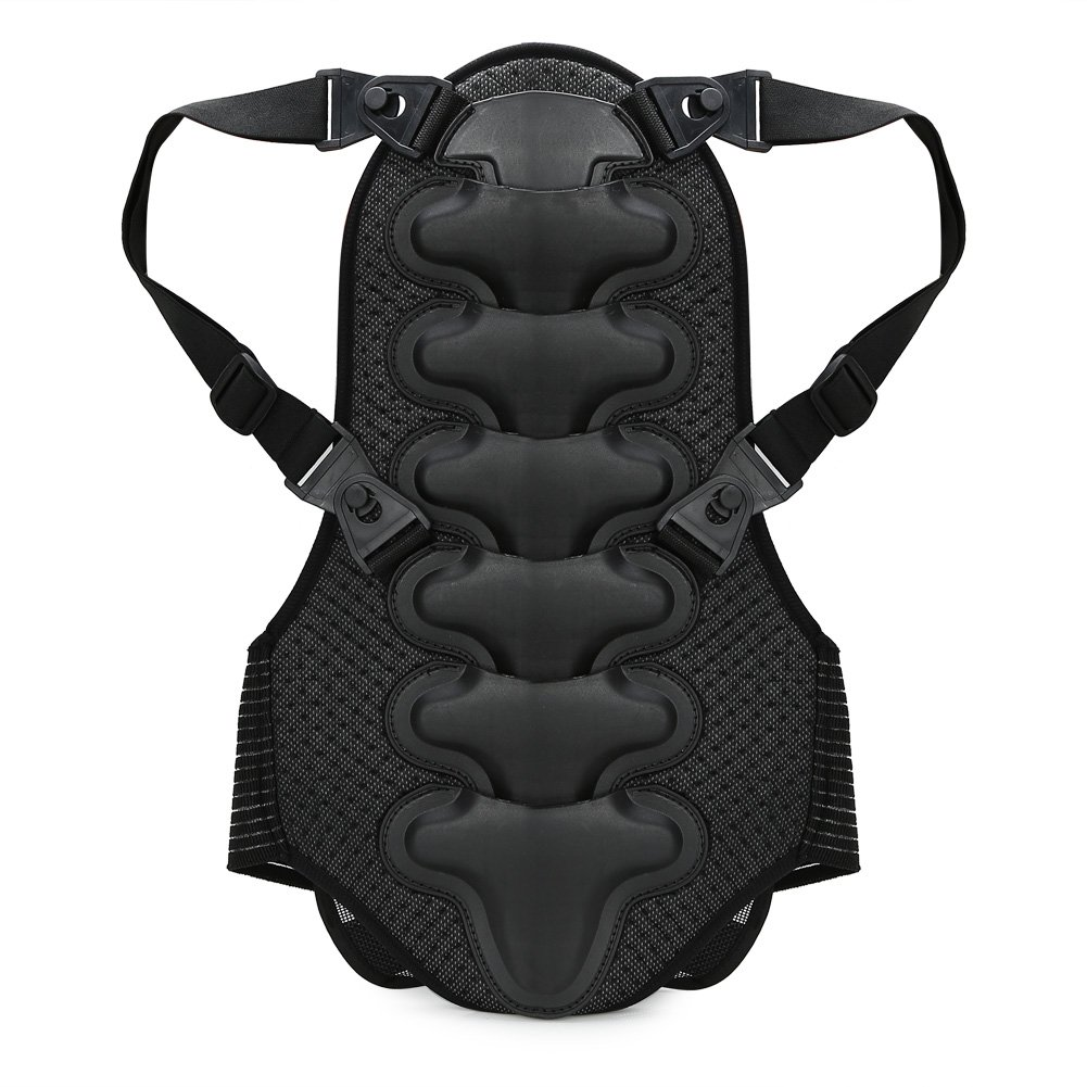 Pellor Motorcycle Bicycle Back Protector Racing Skiing Riding Skating Anti-fall Vest Protective Gear (Black, L: For height:170-180cm/5.6-5.9ft)