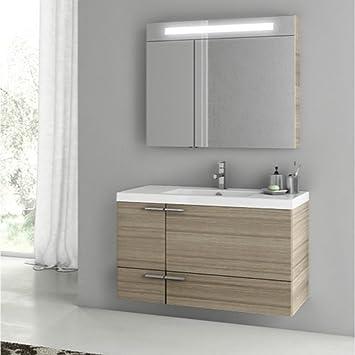 ACF Inch Larch Canapa Bathroom Vanity Set ANS Amazoncom - 39 bathroom vanity cabinet