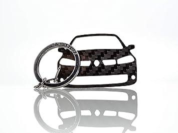 Blackstuff Carbon Karbonfaser Schlüsselanhänger Kompatibel Mit Megane Ii Sport Rs 2002 2009 Bs 667 Auto